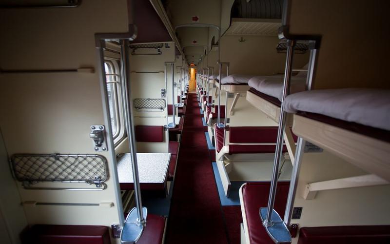 Wagon 3 klasy w pociągu transsyberyjskim