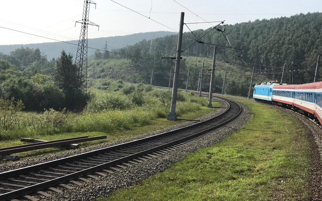 Pociąg transsyberyjski na szlaku