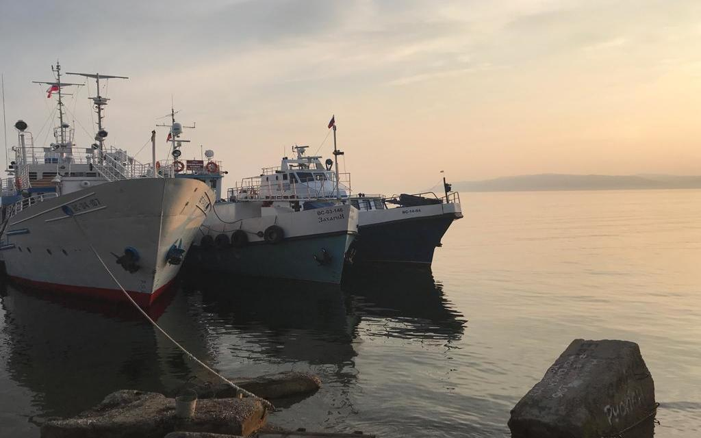 Promy i statki nad Bajkałem
