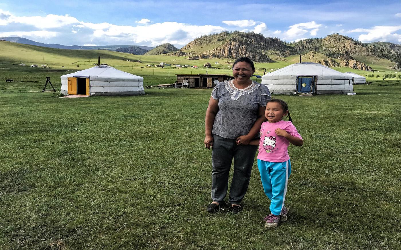 Spotkanie z rodziną Nomadów w Mongolii