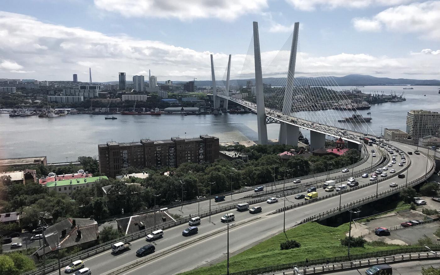 Panorama mostu na Wyspę Rosyjską