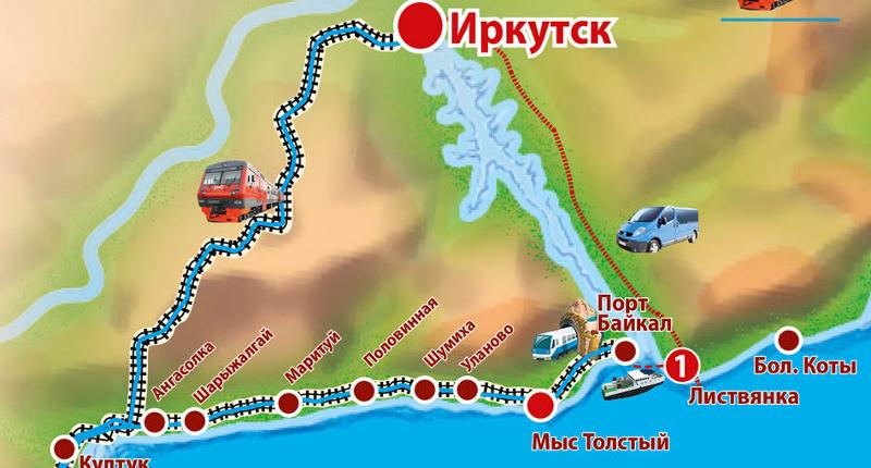 Krugobajkałka - mapa