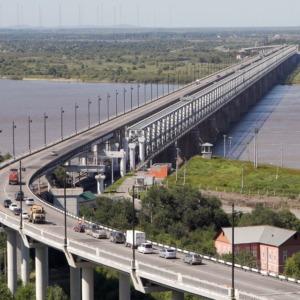 Most na rzece Amur w Chabarowsku