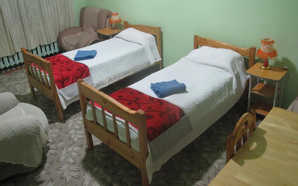 Dwójka w hostelu LG w Ułan Bator