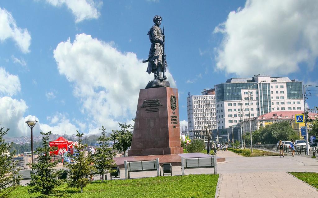 Pomnik w Irkucku